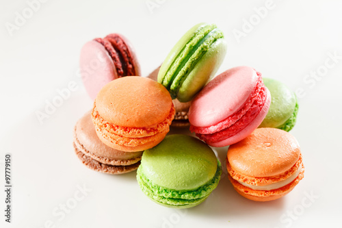 Photo sur Aluminium Macarons French macaroons