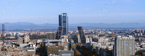 Panoramic view of the city of Madrid, in the north