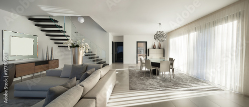 Obraz beautiful apartment, interior - fototapety do salonu
