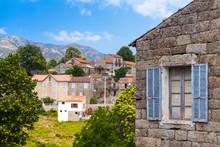 Aullene Village, Corsica, France. Street View