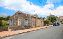 Street View With Old Living Houses Of Aullene