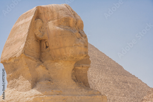Tuinposter Egypte Head of the great Sphinx.