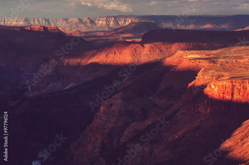 Foto op Aluminium Koraal Grand Canyon