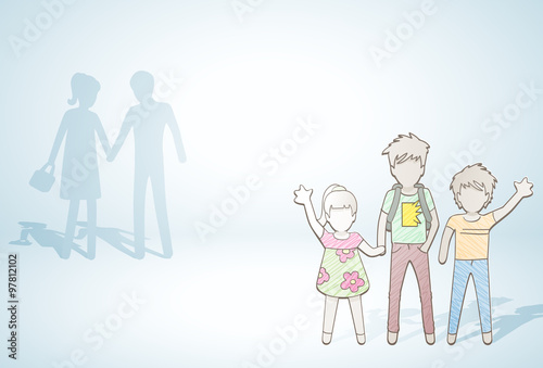 Fényképezés  Sibling /happy siblings and parents