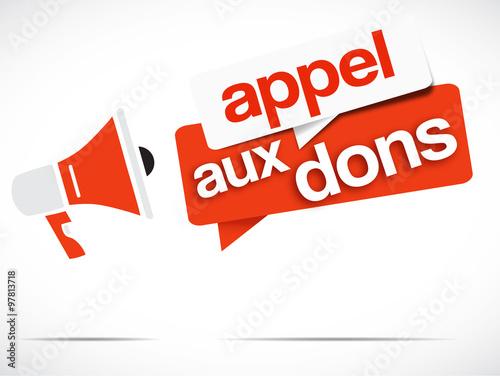 Valokuva  mégaphone : appel aux dons