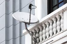 Satellite Dish On The Balcony