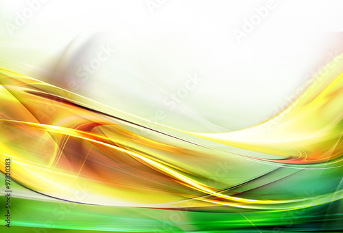 Fotobehang Fractal waves Elegant background for your awesome ideas.