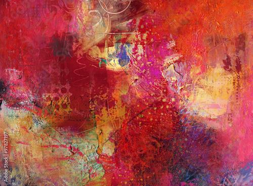 Fototapety, obrazy: rot texturen malerei