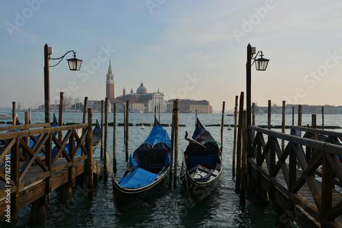 Foto op Canvas Gondolas Venice, gondolas