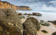 Cliffs and beach, Carvoeiro, Faro, Portugal