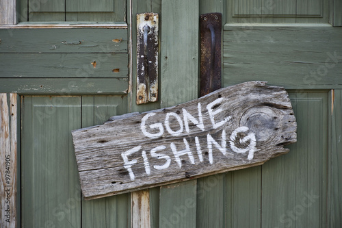 Poster de jardin Peche Gone Fishing.