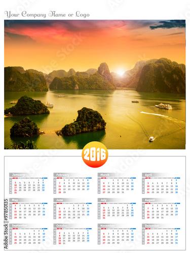 Foto  Vietnam travel landscape calendar