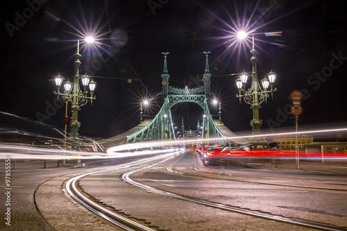 Fototapeta Chain Bridge in Budapest, Hungary obraz na płótnie