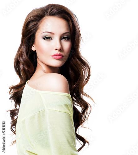 Fotografie, Obraz  Sensuality beautiful woman with long hair