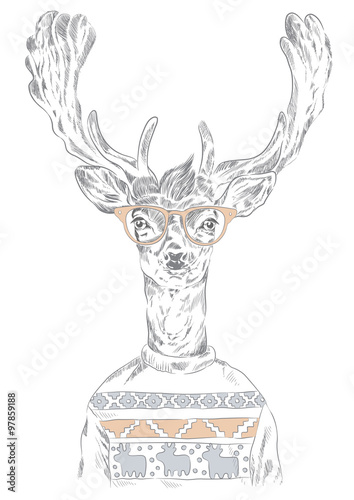 Happy New hipster deer!