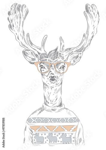 Happy New hipster deer!
