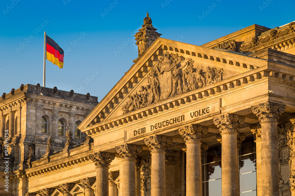 Fototapety, obrazy: Reichstag building at sunset, Berlin, Germany