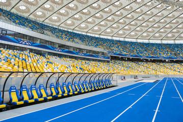 KIJEV, UKRAJINA - 04. listopada: Prazne tribine olimpijskog stadiona (NSC Olimpiysky) nakon UEFA EURO 2012, 04. listopada 2012.