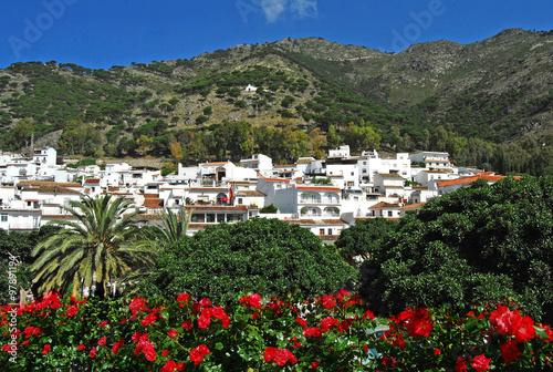 Fotografia Mijas en primavera, panorámica, Málaga, Andalucía