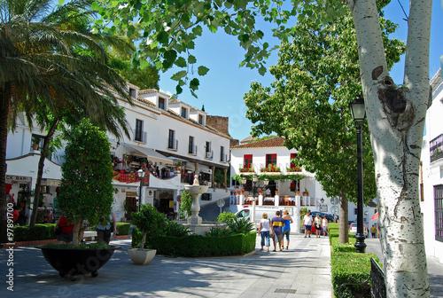Mijas, plaza, Málaga, Andalucía, pueblo, paisaje, paisaje rural Wallpaper Mural
