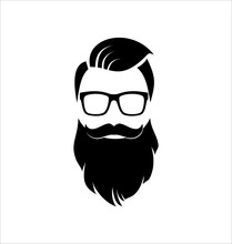 Hipster Black On White Backgro...