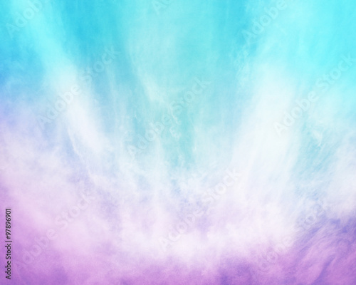 Purple Blue Cloud Abstract