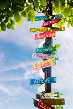 Funny Directions Signpost