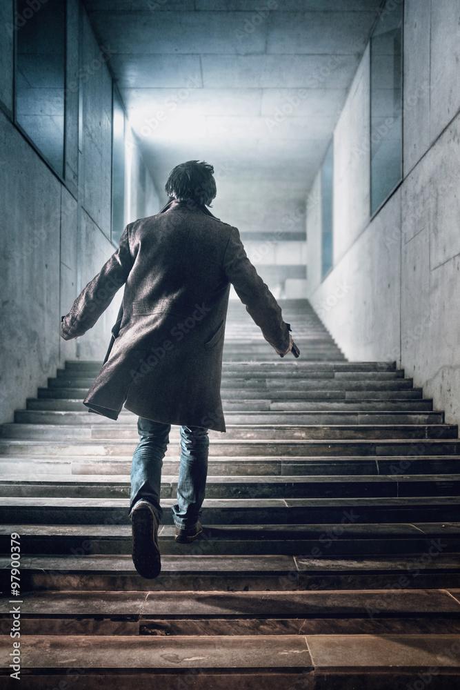 Fototapeta Running up The Stairs