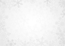 Snowflake Simple Vector Background White