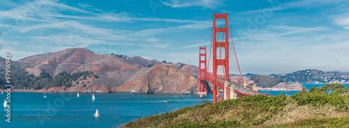 Zdjęcie XXL Panorama mostu Golden Gate