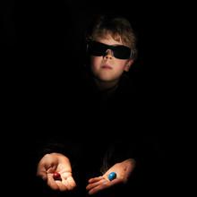 Boy Acting As Morpheus In Matrix