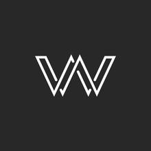 Monogram Letter W Logo, Weave ...