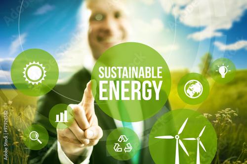 Fotografía  La energía sostenible renovable modelos de negocio concepto.