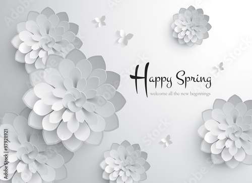 Chinese New Year. Vector Paper Graphic of Blossom. Translation of ...