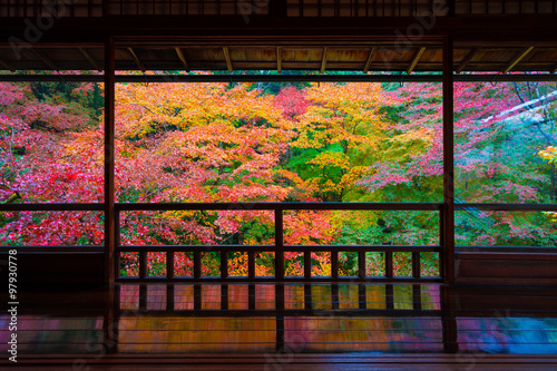 Poster Kyoto 京都 瑠璃光院の紅葉