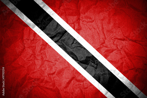 Fototapety, obrazy: Trinidad and Tobago flag painted on crumpled paper