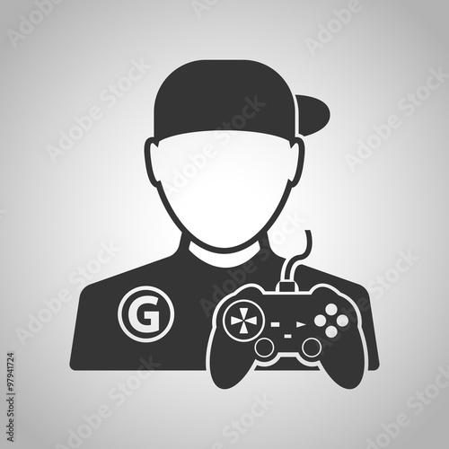 Fotografering  Gamer icon