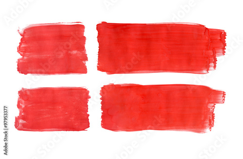 Danish flag painted with gouache Fototapete