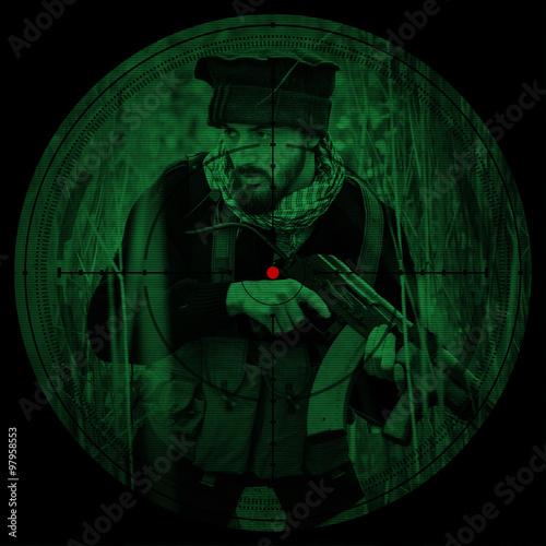 Fotografía  Sniper scope. Night vision.illustration