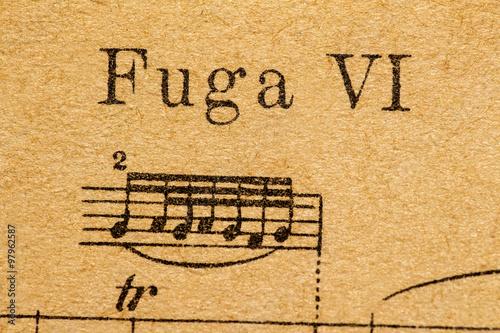 fuga sheet music Canvas Print