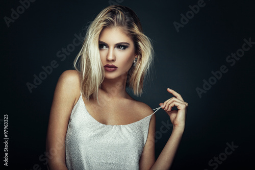Fotografie, Tablou  Beauty portrait of a young blonde woman