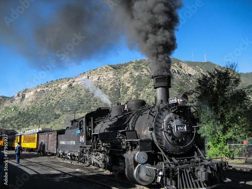 Fotografie, Obraz  Durango and Silverton Narrow Gauge Steam Engine Train