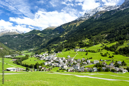 a small town  in the picturesque Swiss Alps.
