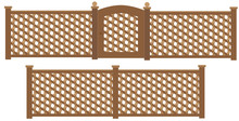 Wooden Trellis Lattice Fence A...
