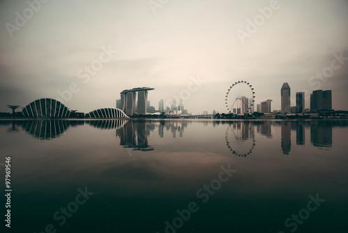 Fotografia, Obraz  Singapore skyline