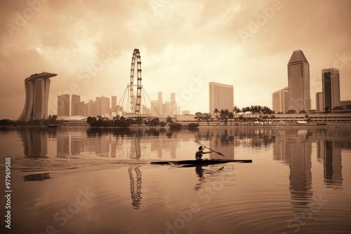 Canvastavla  Singapore skyline