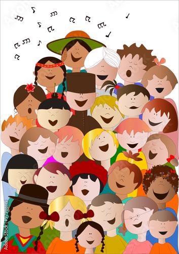 Fotografiet coro di bambini da tutto il mondo