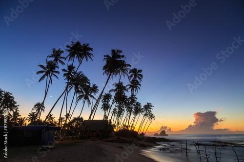 In de dag Los Angeles Sunrise at the beach in Sri Lanka