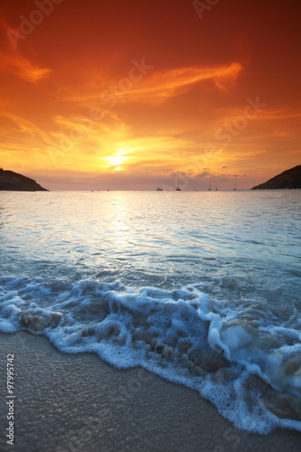Sea sunset Tablou Canvas