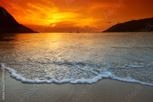 plakat Sea sunset